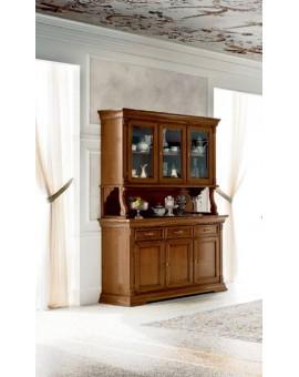 PRAMA гостиная PALAZZO DUCALE ciliegio ВЕРХНИЙ МОДУЛЬ от 3-дверной витрины