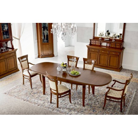 PRAMA гостиная PALAZZO DUCALE ciliegio СТОЛ овальный 180 см