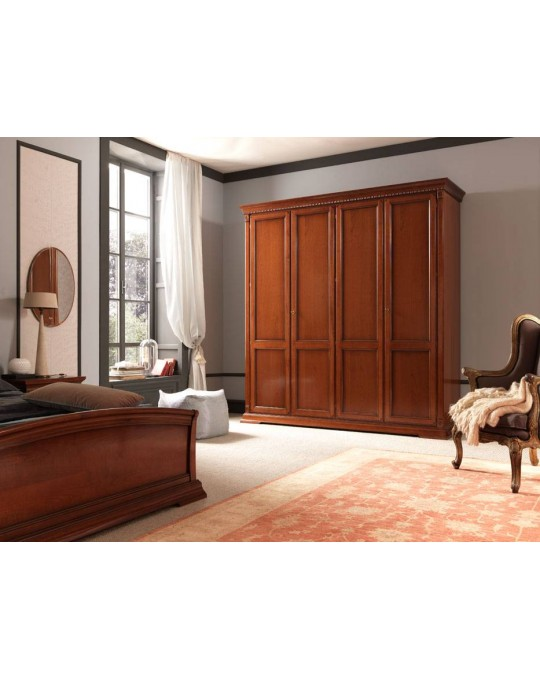 PRAMA  спальня PALAZZO DUCALE ciliegio ШКАФ 4-дверный без зеркал