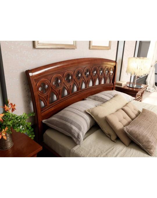PRAMA  спальня PALAZZO DUCALE ciliegio КРОВАТЬ с резным изголовьем и изножьем 100 см
