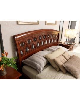 PRAMA  спальня PALAZZO DUCALE ciliegio КРОВАТЬ с резным изголовьем и с изножьем 140 см