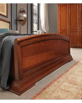 PRAMA  спальня PALAZZO DUCALE ciliegio КРОВАТЬ с кожаным изголовьем и с изножьем 180 см
