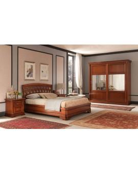 PRAMA  спальня PALAZZO DUCALE ciliegio КРОВАТЬ  160 см с резным изголовьем без изножья