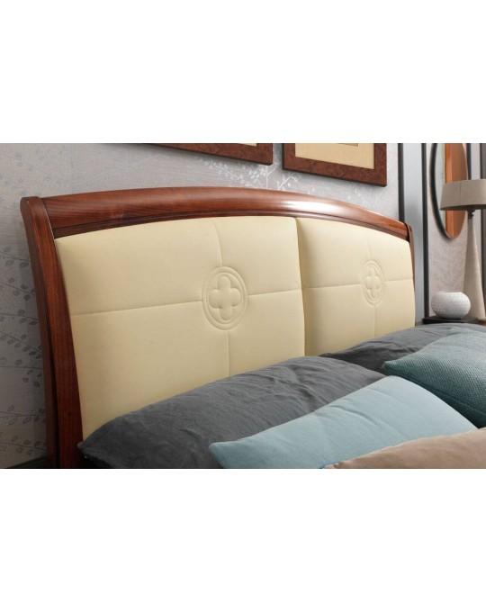 PRAMA  спальня PALAZZO DUCALE ciliegio КРОВАТЬ 140 см с кожаным изголовьем без изножья