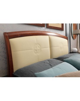 PRAMA  спальня PALAZZO DUCALE ciliegio КРОВАТЬ 180 см с кожаным изголовьем без изножья
