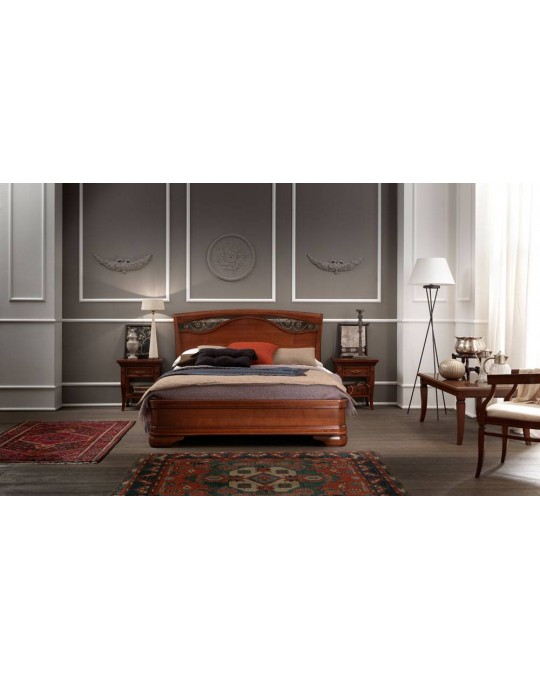 PRAMA  спальня PALAZZO DUCALE ciliegio КРОВАТЬ 160 см с ковкой без изножьем