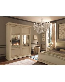 PRAMA  спальня PALAZO DUCALE laccato  ШКАФ-КУПЕ maxi с декоративными стеклами