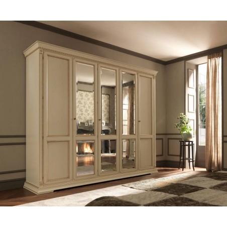 PRAMA  спальня PALAZZO DUCALE laccato  ШКАФ 5-дверный без зеркал