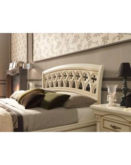 PRAMA  спальня PALAZZO DUCALE lccato КРОВАТЬ 100 см резным изголовьем и с изножьем