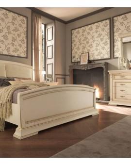 PRAMA  спальня PALAZZO DUCALE laccato КРОВАТЬ 140 см с кожаным изголовьем и с изножьем