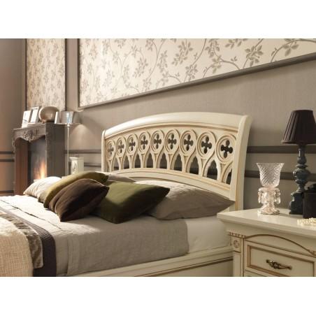 PRAMA  спальня PALAZZO DUCALE laccato КРОВАТЬ 180 см резным изголовьем и с изножьем