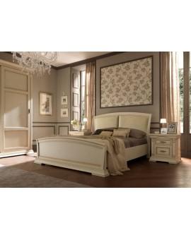 PRAMA  спальня PALAZZO DUCALE laccato КРОВАТЬ 180 см с кожаным изголовьем и с изножьем