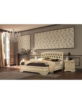 PRAMA  спальня PALAZZO DUCALE laccato КРОВАТЬ 140 см резным изголовьем без изножья