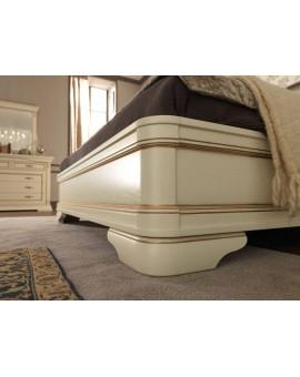 PRAMA  спальня PALAZZO DUCALE laccato КРОВАТЬ 160 см резным изголовьем без изножья