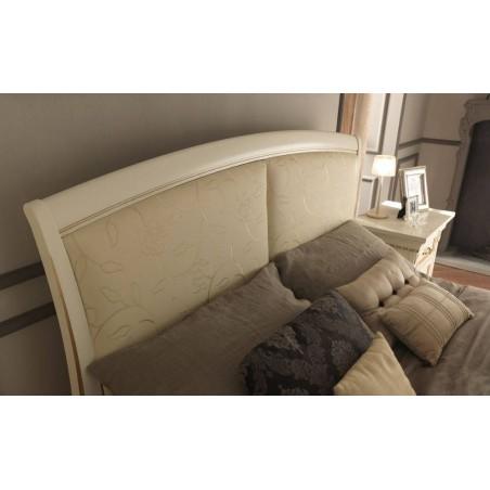 PRAMA  спальня PALAZZO DUCALE laccato КРОВАТЬ 140 см с кожаным изголовьем без изножья