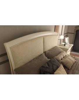 PRAMA  спальня PALAZZO DUCALE laccato КРОВАТЬ 160 см с кожаным изголовьем без изножья