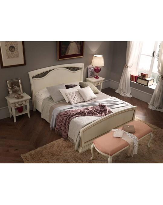PRAMA  спальня PALAZZO DUCALE laccato КРОВАТЬ 160 см с ковкой и с изножьем