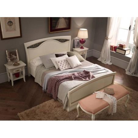 PRAMA  спальня PALAZZO DUCALE ciliegio КРОВАТЬ 180 см с ковкой без изножьем