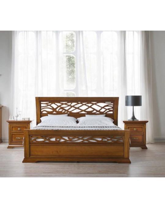 PRAMA спальня BOHEMIA  КРОВАТЬ с резным изножьем