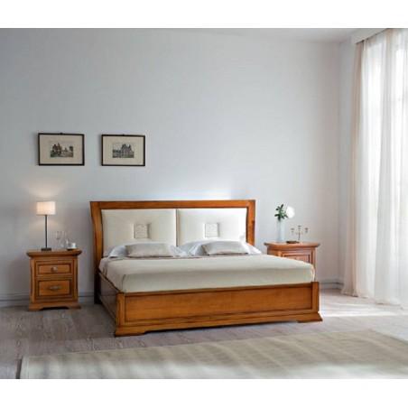 PRAMA спальня BOHEMIA  КРОВАТЬ с кожанным изголовьем без изножьем
