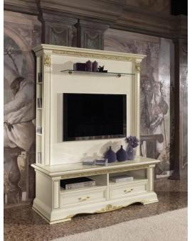 VIVALDI Мебель для ТВ белая (Claudio Saoncella)